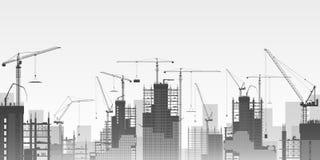 Tower Cranes vector illustration