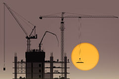 Tower Cranes Stock Photo