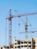 Tower cranes. Urban Construction Royalty Free Stock Photos