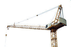 Tower cranes on white background Royalty Free Stock Images