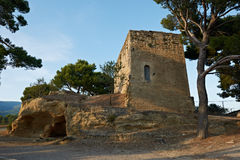 Tower of Cucuron in France Stock Photo