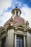Tower with cupola, architecture tipical Spanish city of Valencia Stock Photos