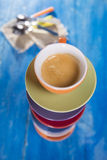 Tower of cups of coffee Stock Photography