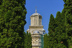Tower of Curtea de Arges Monastery Stock Image
