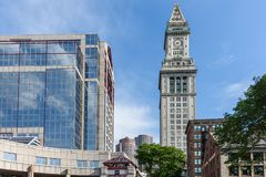 Custom House Tower in Boston Stock Photo