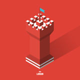 Tower. 3d vector illustration Royalty Free Stock Photography