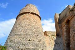 Tower in Dalt Vila, Ibiza - Spain. Tower of Ibiza Castle in Dalt Vila, Spain Stock Photo