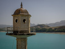 Tower at the Dam over the Rio Alhama, Spain Stock Photography