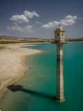 Tower at the Dam over the Rio Alhama, Spain Royalty Free Stock Images