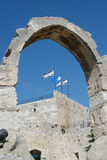 Tower of David. The Tower of David inside Jerusalem's old city walls Stock Photos