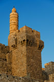The tower of david. In Jerusalem at sunset stock photos