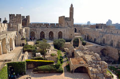 Tower of David. In Jerusalem royalty free stock images
