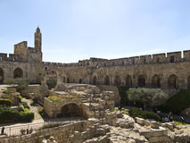 Tower of David and Archaeological Park Stock Image
