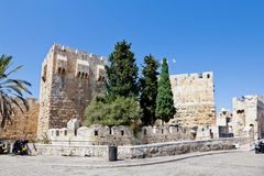 The Tower of David in Jerusalem Royalty Free Stock Images