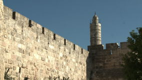 The tower of David, Jerusalem stock video footage