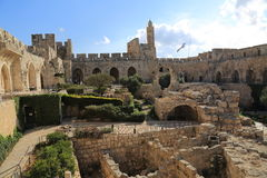 The Tower of David. In Jerusalem, Israel stock image