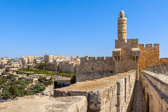 Tower of David in Jerusalem, Israel. Royalty Free Stock Images