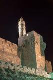 Tower of David, Jerusalem at night Stock Photos
