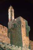 Tower of David, Jerusalem at night Royalty Free Stock Photography