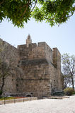 Tower of david and Jerusalem walls Royalty Free Stock Photos