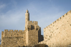 Tower of David. In the old city of Jerusalem, Israel royalty free stock photos