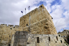 Tower of David in old Jerusalem. Royalty Free Stock Photo