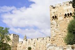 Tower of David in old Jerusalem. Stock Image