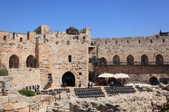 Tower of David with Seats for Light Shows Royalty Free Stock Photo