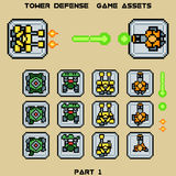 Tower defense game assets part 1 Stock Photography