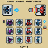 Tower defense game assets part 2 Stock Images