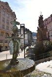 tower den tjeckiska karlovy republiken för staden varierar sikt Royaltyfri Fotografi