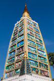 Tower depicting the life of Buddha Royalty Free Stock Images