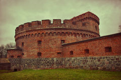 Tower of Der Dona. Part of the german defensive fortifications in the Konigsberg Royalty Free Stock Photo
