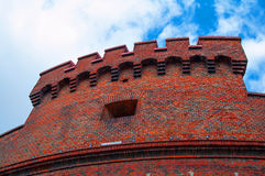 Tower Der Dona. Wall of the tower Der Dona in Kaliningrad Stock Photography