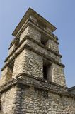 Tower Detail Palenque. Detail of Tower in the castle at the Paleque Mayan Ruins royalty free stock photography