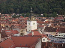 Tower detail of romanian city brasov Royalty Free Stock Photos