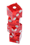 Tower of dices. On a over white background Stock Image