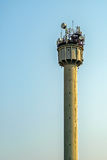 Tower with different antennas Stock Photos