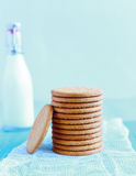 Tower of Digestive Biscuits Stock Photo