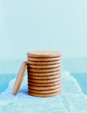 Tower of Digestive Biscuits Royalty Free Stock Images