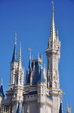 Tower of Disney Cinderella Castle. Tower of Cinderella Castle at Walt Disney World in Orlando, Florida, USA Stock Image