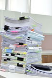 Tower of Documents. Stack of documents at business office royalty free stock photography