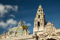 The Tower and Dome at Balboa Park, San Diego Stock Images