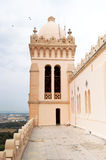 Tower and dome of Cathedral of Saint Louis of Carthage, Tunisia Stock Images