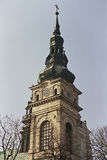 Tower of Dominican monastery. Christian tower of Dominican monastery in Tarnobrzeg Poland which is symbol of christianity royalty free stock photo
