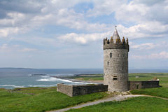 Tower of Doonagore castle. Clare county , Ireland Royalty Free Stock Image