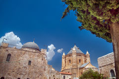 Tower of Dormition Abbey Stock Photo