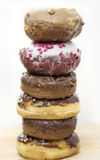 Tower of doughnuts Stock Photos