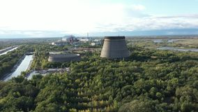 A tower from a drone stock footage
