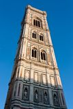 Tower of Duomo in Florence. The Basilica di Santa Maria del Fiore (English: Basilica of Saint Mary of the Flower) is the main church of Florence, Italy. The royalty free stock photos